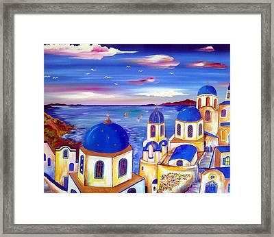 Santorini Is My Dream Framed Print