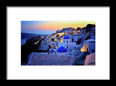 Santorini Framed Prints