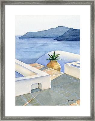 Santorini Framed Print by Marsha Elliott