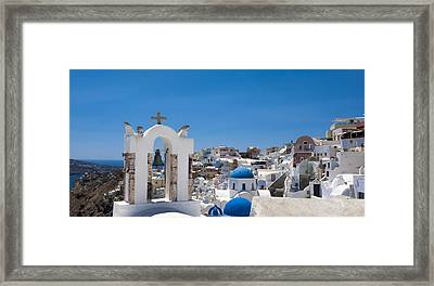 Santorini Mid-summer Day Framed Print