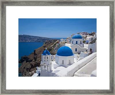 Santorini On A Summer Day Framed Print