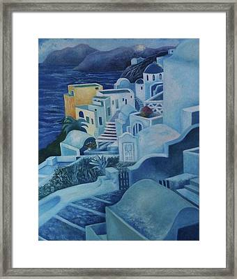 Santorini Sunset Framed Print