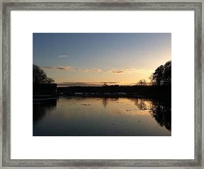 Santuit Pond Dusk Framed Print by Tricia Nilsson