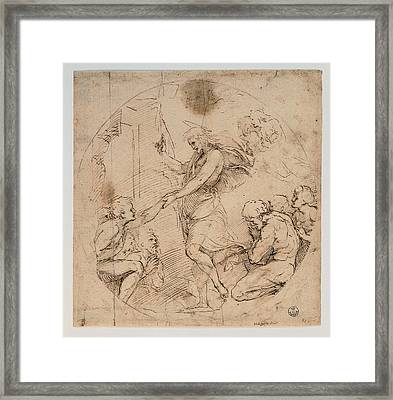 Sanzio Raffaello, Christ In The Limbo Framed Print by Everett