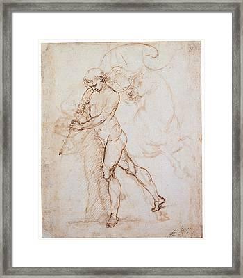 Sanzio Raffaello, Flagman, 1505, 16th Framed Print by Everett