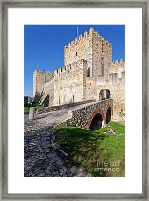 Sao Jorge Castle In Lisbon Framed Print
