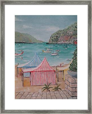 Framed Print featuring the painting Sao Martinho Do Porto by Hilda and Jose Garrancho