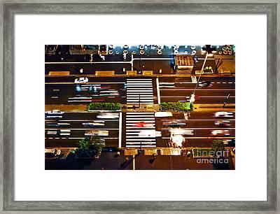 Sao Paulo - Busy Traffic - Paulista Avenue Framed Print