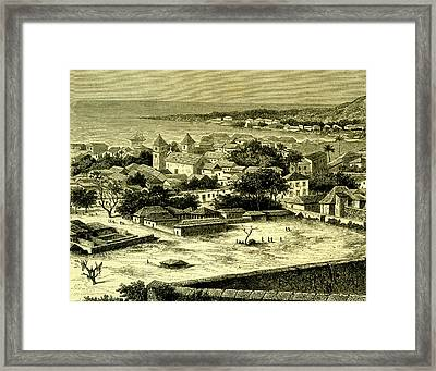 Sao Paulo De Loanda Framed Print by Collection Abecasis