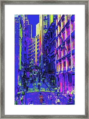 Sao Paulo Downtown At Night Framed Print by Steve Ohlsen