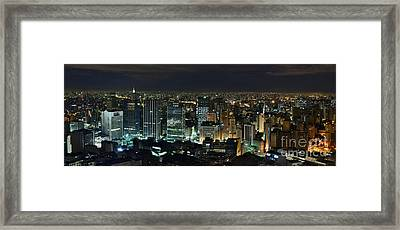 Sao Paulo Downtown From Terraco Italia Framed Print