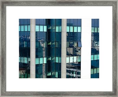 Sao Paulo Glass Building Framed Print by Julie Niemela
