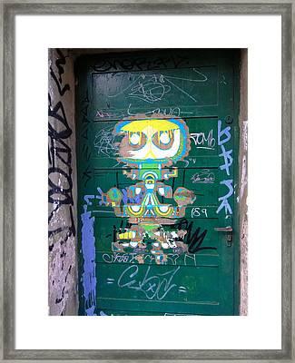 Sao Paulo Green Door II Framed Print by Julie Niemela