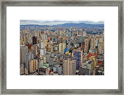 Framed Print featuring the photograph Sao Paulo by Henry Kowalski