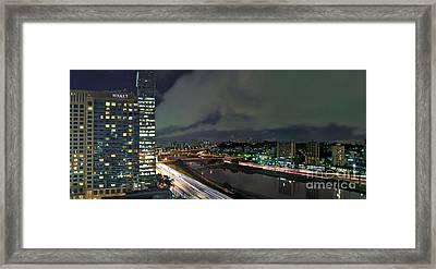 Sao Paulo - Modern Skyline - Brooklin District - Pinheiros River Framed Print