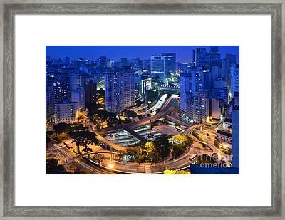 Sao Paulo Skyline - Downtown Framed Print
