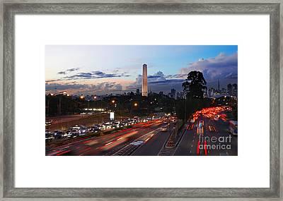 Sao Paulo Skyline - Ibirapuera Framed Print