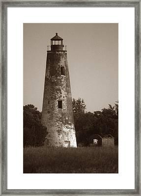 Sapelo Island Lighthouse Framed Print by Skip Willits