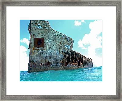 Sapona Ship Wreck Framed Print