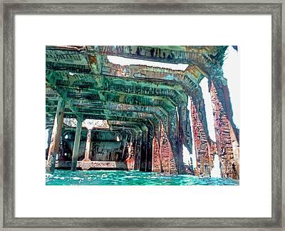Sapona Wreck Framed Print