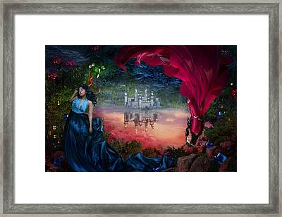Sapphire Framed Print by Cassiopeia Art