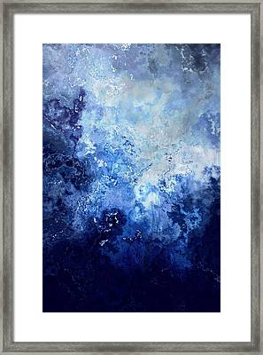 Framed Print featuring the painting Sapphire Dream - Abstract Art by Jaison Cianelli