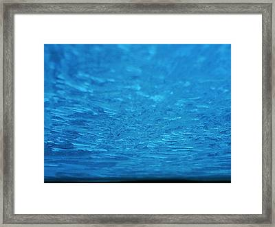 Sapphire Ice Planet Framed Print by Jaime Neo