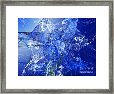 Sapphire In Blue Lace Framed Print by Andee Design