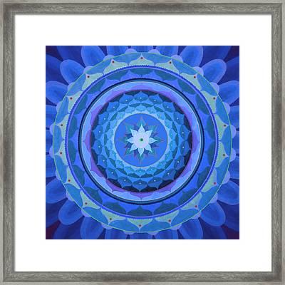 Sapphire Mandala Framed Print by Vlatka Kelc