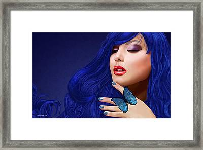 Sapphire Framed Print by Melissa King