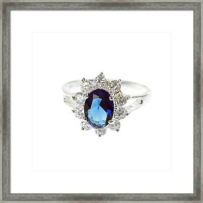 Sapphire Ring Framed Print by Science Photo Library