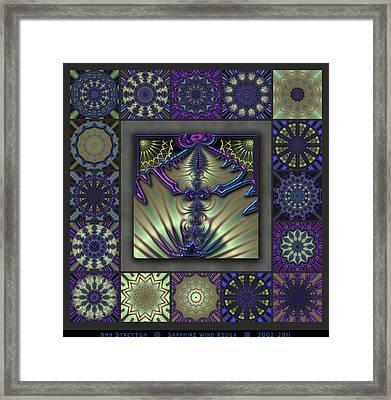 Sapphire Wind Redux  Framed Print by Ann Stretton