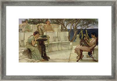 Sappho And Alcaeus Framed Print