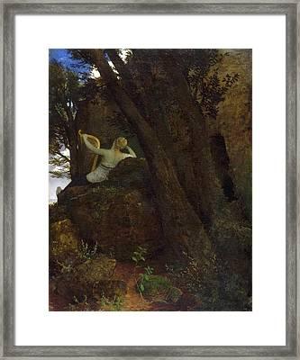 Sappho Framed Print by Arnold Boecklin