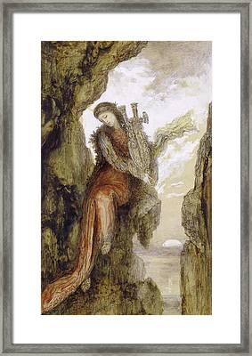 Sappho On The Cliff Framed Print