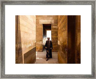 Framed Print featuring the photograph Saqqara Temple by Anthony Baatz