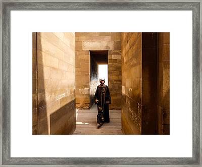 Saqqara Temple Framed Print