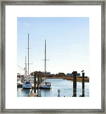 Saquatucket River Harwich Port Cape Cod Framed Print by Michelle Wiarda