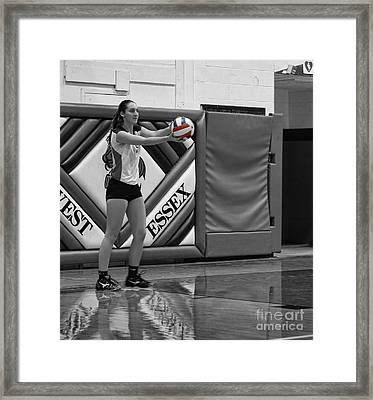 Framed Print featuring the photograph Sara Livecchi  by Lee Dos Santos