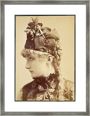 Sarah Bernhardt (1845 - 1923), French Framed Print by Mary Evans Picture Library