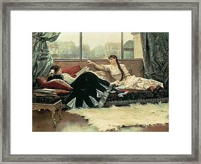 Sarah Bernhardt And Christine Nilsson Framed Print by Julius Leblanc Stewart
