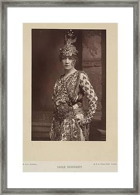 Sarah Bernhardt Framed Print by British Library