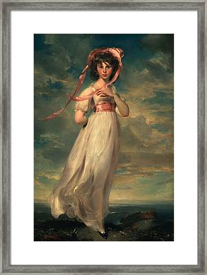 Sarah Goodwin Barrett Moulton Pinie 1794 Framed Print by Thomas Lawrence