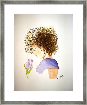 Framed Print featuring the painting Sarah by June Holwell