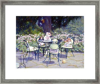 Sarah Marshall Serves Tea Framed Print by Candace Lovely