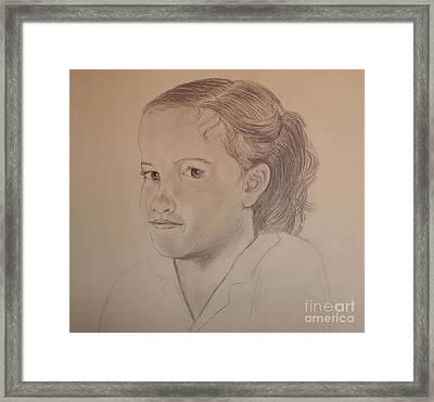 Sarah Framed Print by Nancy Kane Chapman