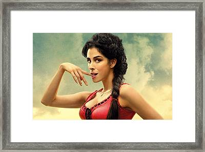Sarah Silverman A Million Ways To Die In The West  Framed Print