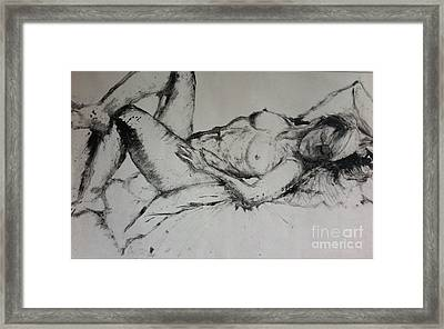Sarah Sleeping Framed Print
