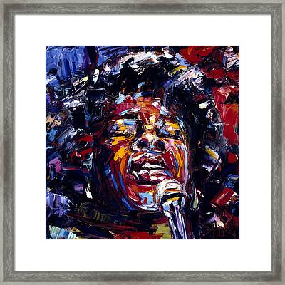Sarah Vaughan Jazz Face Series Framed Print by Debra Hurd