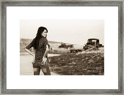 Sarah_6 Framed Print by Ivete Basso Photography